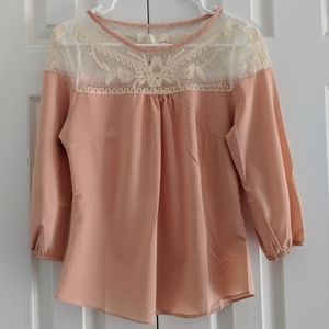 ANTHROPOLOGIE A'REVE Lace Blouse